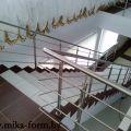 Ограждение лестницы из нержавеющей стали на 4 прутка